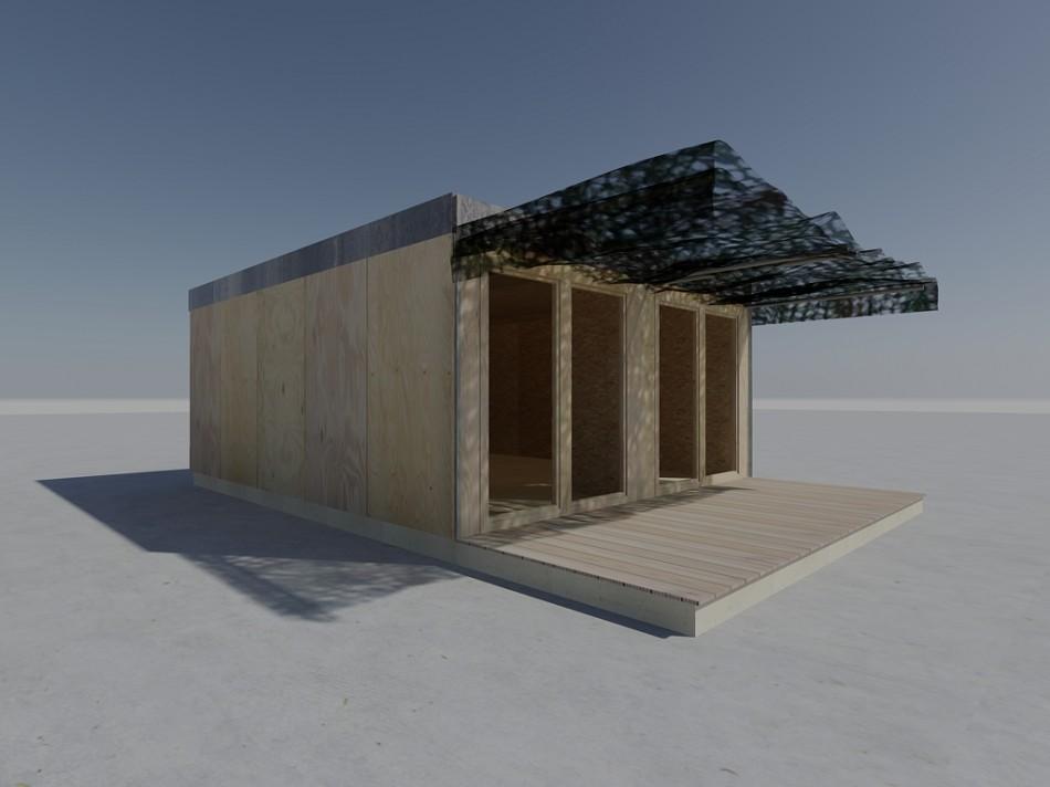 Projet Ateliers D 39 Artistes En Container Bois Showroom