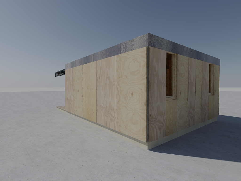 Projet ateliers d 39 artistes en container bois showroom for Projet container