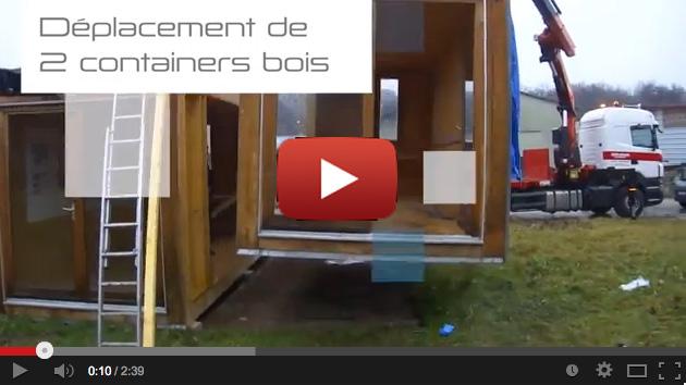 reportage video container en bois