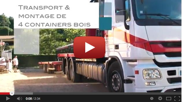 "reportage video ""histoire de 4 container en bois"