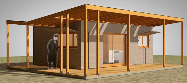 Kiosque de parc en bois erp modulaire en bois kiosque bois for Container en bois