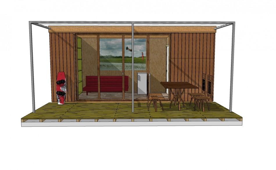 bungalow en bois pour base de loisir container bois. Black Bedroom Furniture Sets. Home Design Ideas